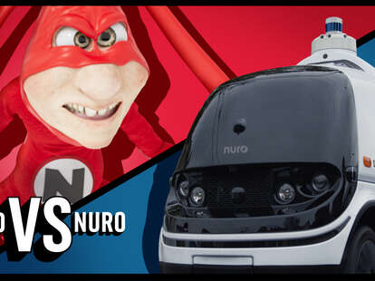 An image of the Noid character and a delivery vehicle.