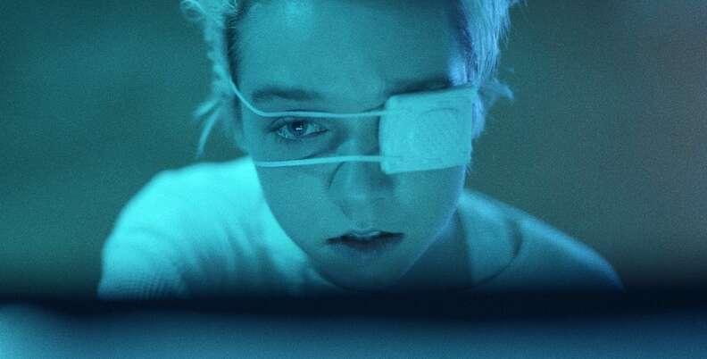 come true movie, julia sarah stone eyepatch