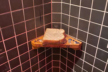 PB&J sandwich left in a bar bathroom, a result of Cuomo's COVID-19 rules