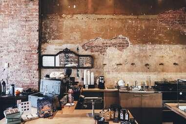 inside a cafe