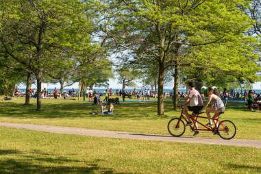 bikers on the Toronto Islands