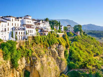 Ronda, Spain cliff