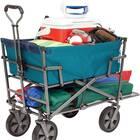 MacSports Heavy Duty Outdoor Folding Wagon Double Decker Portable Utility Cart