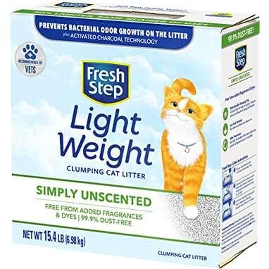 Fresh Step Simply Unscented Lightweight Clumping Cat Litter