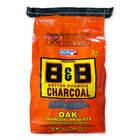 B&B Charcoal All Natural Oak Hardwood Charcoal Briquettes, 8.8lbs