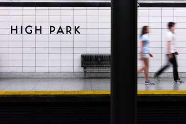 High Park train stop