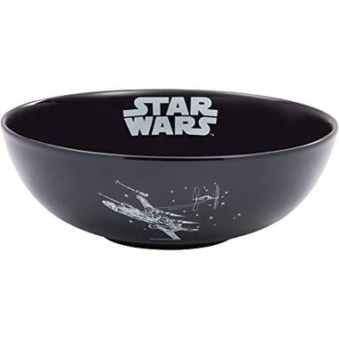 Vandor Star Wars X-Wing and Imperial Ship Ceramic Serving Bowl