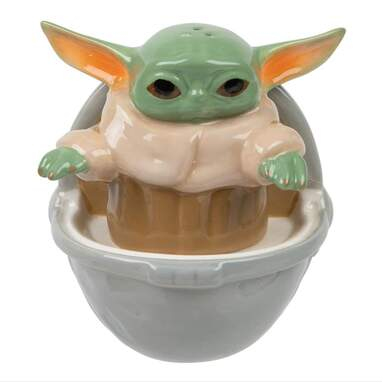 Baby Yoda Stackable Salt and Pepper Shakers