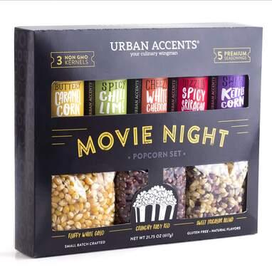 Urban Accents Popcorn Kernels and Popcorn Seasoning Variety Pack