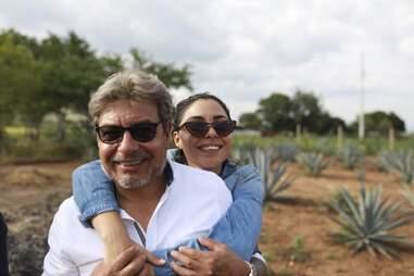 Don Fortino Ramos and Xitlali