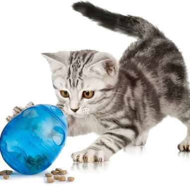 Cat interactive feeder toy