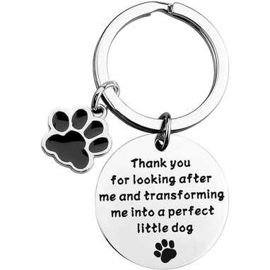 Dog Trainer Thank You Keychain