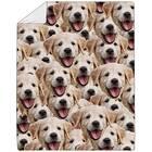 Custom Dog Face Fleece Blanket