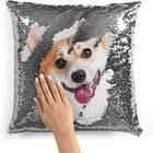 Custom Sequin Photo Pillow