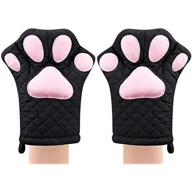 Black cat mitts