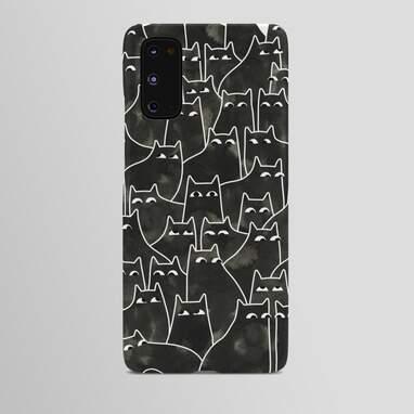Black cat phone case