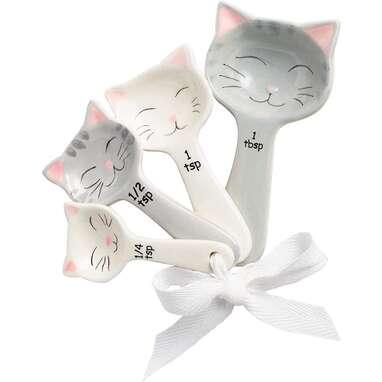 Toysdone Cat Shaped Ceramic Measuring Spoons