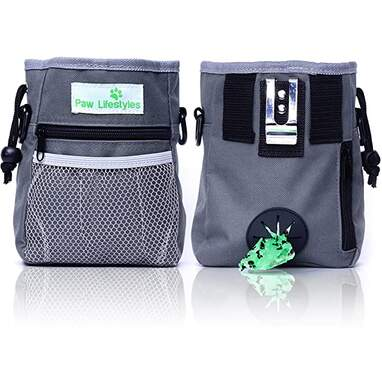 Paw Lifestyles Dog Treat Pouch with Poop Bag Dispenser