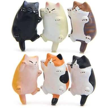 6 Pack Fun Cat Refrigerator Magnets