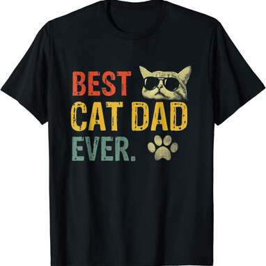 Vintage Best Cat Dad Ever T-Shirt