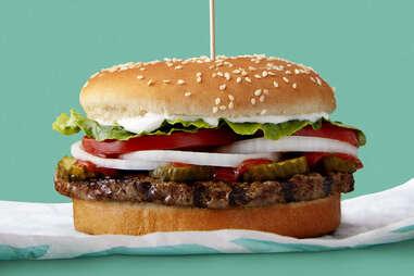 burger king veggie burger impossible whopper