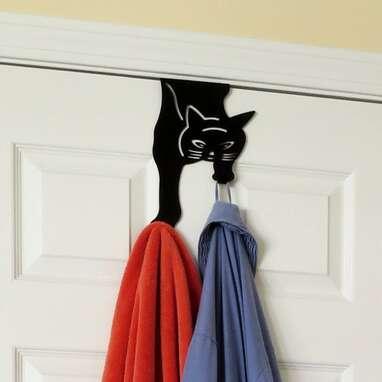 Cat Over-The-Door Towel Hanger