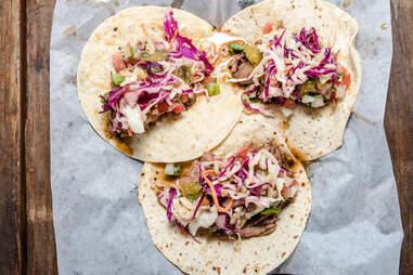 pulled pork tacos at killen's