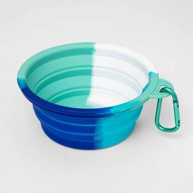Cool Tie-Dye Collapsible Dog Bowl