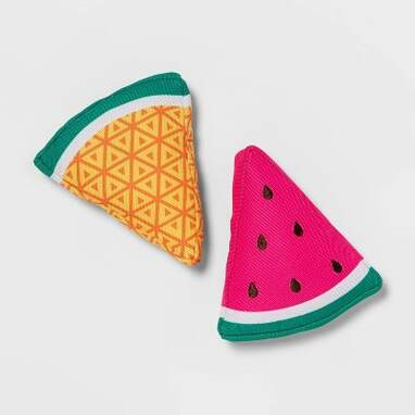 Watermelon and Pineapple Slice Dog Toy