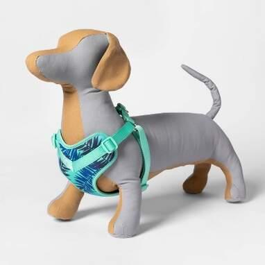 Blue Leaf Soft Mesh Dog Harness