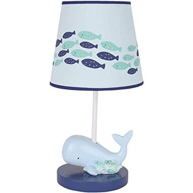 Lambs & Ivy Oceania Lamp with Shade & Bulb
