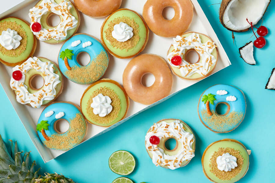 Krispy Kreme Just Debuted an Entire Tropical-Themed Donut Collection