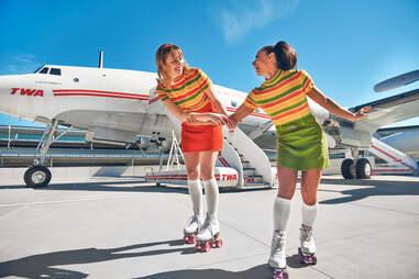 TWA Hotel roller rink jfk airport