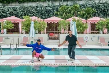 Pharrell Williams and David Grutman