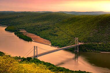Bear Mountain Bridge at sunrise