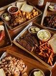 Feast BBQ spread