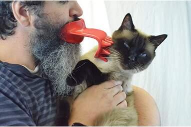 Funny cat brush