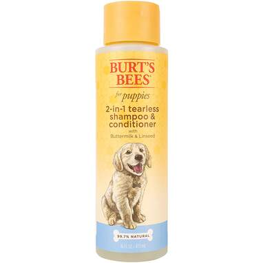 Burt's Bees for Dogs Natural Tearless 2 in 1 Dog Shampoo & Conditioner