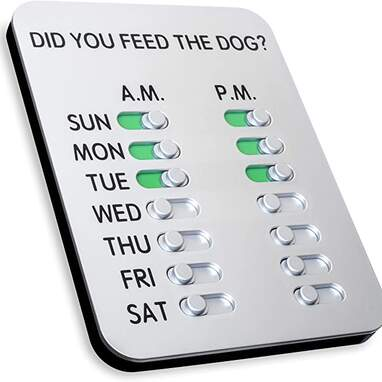 The Original 'Did You Feed The Dog?' Sign