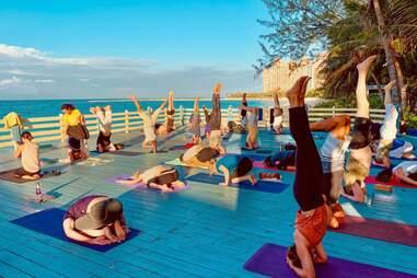 people at Sivananda Ashram Yoga Retreat Bahamas