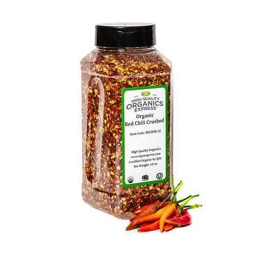 HQOExpress Organic Red Chili Pepper Crushed
