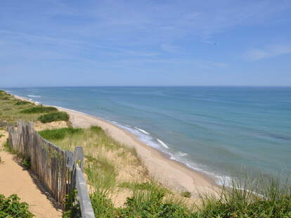 View from Marconi Station on Cape Cod in Massachusetts