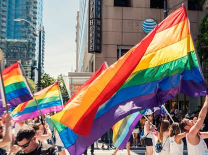 Seattle, Wa June 24th 2018 Gay Pride Parade