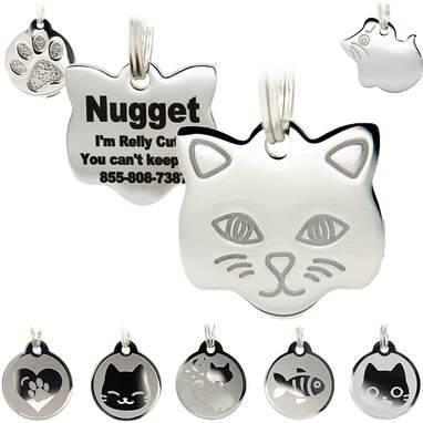 PetANTastic Stainless Steel Cat ID Tags