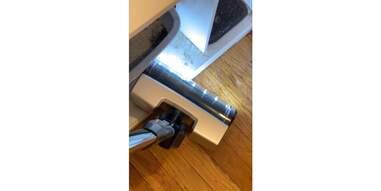 vacuum with led light on floor