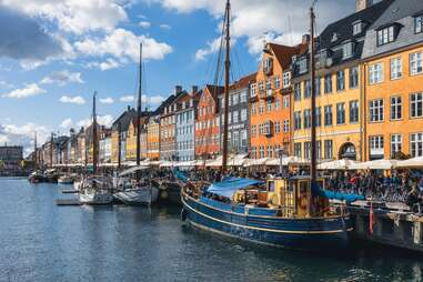 boats on the Nyhavn canal, Copenhagen, Denmark