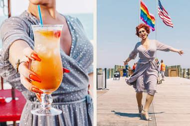 mai tai cocktail on the pier