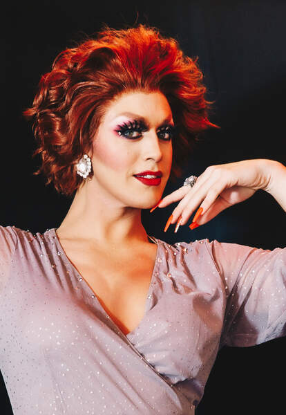 Sabel Scities poses on stage at Cherry's in Fire Island