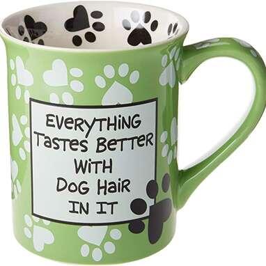 """Enesco """"Dog Hair"""" Mug"""
