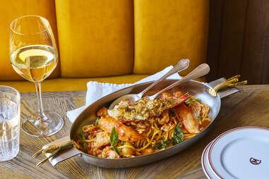 carne mare spicy lobster spaghetti
